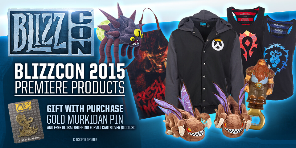 BlizzCon 2015 Free Shipping & Gift